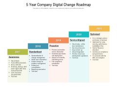 5 Year Company Digital Change Roadmap Template