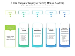 5 Year Computer Employee Training Module Roadmap Pictures