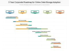 5 Year Corporate Roadmap For Online Data Storage Adoption Demonstration