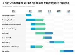5 Year Cryptographic Ledger Rollout And Implementation Roadmap Template