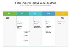 5 Year Employee Training Module Roadmap Clipart
