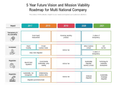 5 Year Future Vision And Mission Viability Roadmap For Multi National Company Themes