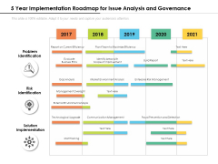 5 Year Implementation Roadmap For Issue Analysis And Governance Introduction