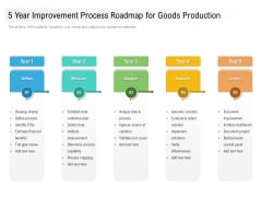 5 Year Improvement Process Roadmap For Goods Production Diagrams