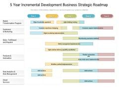 5 Year Incremental Development Business Strategic Roadmap Themes