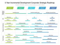 5 Year Incremental Development Corporate Strategic Roadmap Brochure