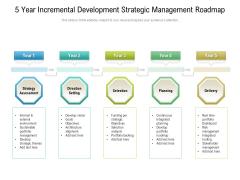 5 Year Incremental Development Strategic Management Roadmap Infographics