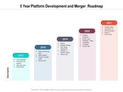 5 Year Platform Development And Merger Roadmap Guidelines