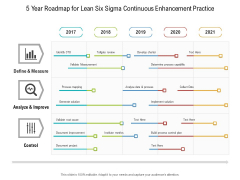 5 Year Roadmap For Lean Six Sigma Continuous Enhancement Practice Clipart