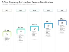 5 Year Roadmap For Levels Of Process Robotization Rules