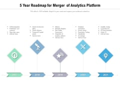 5 Year Roadmap For Merger Of Analytics Platform Slides