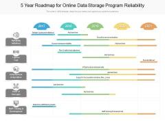 5 Year Roadmap For Online Data Storage Program Reliability Introduction