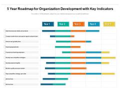 5 Year Roadmap For Organization Development With Key Indicators Clipart