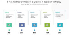 5 Year Roadmap For Philosophy Of Existence In Blockchain Technology Designs