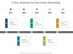 5 Year Roadmap For Real Estate Revamping Infographics