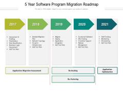 5 Year Software Program Migration Roadmap Diagrams