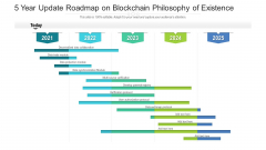 5 Year Update Roadmap On Blockchain Philosophy Of Existence Background