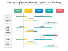 5 Yearly Application Software Application Roadmap Professional