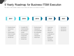 5 Yearly Roadmap For Business ITSM Execution Portrait
