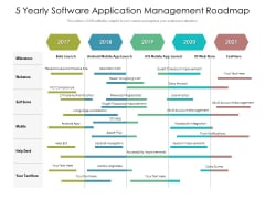 5 Yearly Software Application Management Roadmap Infographics