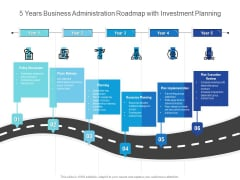 5 Years Business Administration Roadmap With Investment Planning Inspiration
