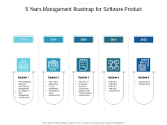 5 Years Management Roadmap For Software Product Graphics