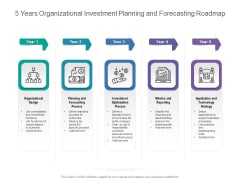 5 Years Organizational Investment Planning And Forecasting Roadmap Themes