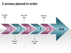 5 Arrows Placed In Order What Is Flow Chart Used For PowerPoint Templates