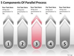 5 Components Of Parallel Process Business Plan Formats PowerPoint Slides