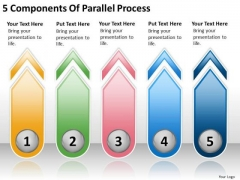 5 Components Of Parallel Process Make Business Plan PowerPoint Slides