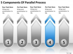 5 Components Of Parallel Process Model Business Plan PowerPoint Templates