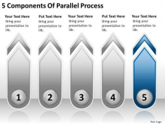 5 Components Of Parallel Process Ppt Business Continuity Plan Sample PowerPoint Slides