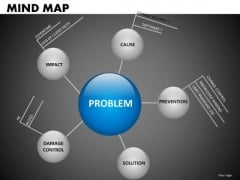 5 Nodes Hexagon Mindmap Diagram PowerPoint Templates
