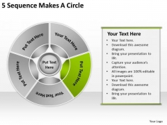 5 Sequence Makes Circle Business Ideas PowerPoint Slides