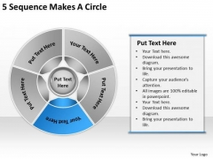 5 Sequence Makes Circle Business Plan PowerPoint Templates