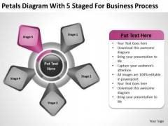 5 Staged For Business Process Ppt Plans Non Profit Organizations PowerPoint Slides