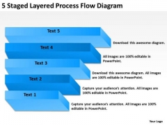 5 Staged Layered Process Flow Diagram Business Plan Project PowerPoint Slides