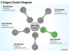 5 Stages Cluster Diagram Business Plan PowerPoint Templates