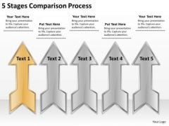 5 Stages Comparison Process Create Business Plan Free PowerPoint Slides