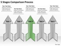 5 Stages Comparison Process Great Business Plan Examples PowerPoint Templates