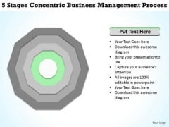 5 Stages Concentric Business Management Process Plan Form PowerPoint Slides