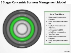 5 Stages Concentric Business Managment Model Plan Consultant PowerPoint Templates