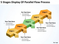 5 Stages Display Of Parallel Flow Process Startup Business Plan Template PowerPoint Templates