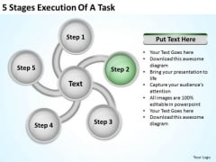 5 Stages Execution Of Business Plan PowerPoint Slide