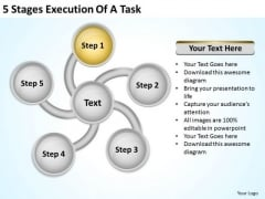5 Stages Execution Of Business Plan PowerPoint Slides