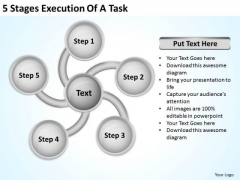 5 Stages Execution Of Business Plans PowerPoint Templates