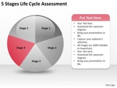 5 Stages Life Cycle Assesment Business Plans Template PowerPoint Templates