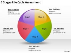 5 Stages Life Cycle Assesment How To Start Writing Business Plan PowerPoint Templates