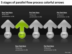 5 Stages Of Parallel Flow Process Colorful Arrows Ppt Business Plan Form PowerPoint Templates