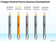 5 Stages Vertical Process Business Development Ppt New Plan PowerPoint Templates